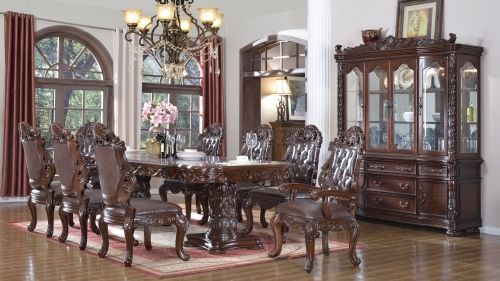 Meridian 701 Dining Room Set 9pc. Hand Crafted Cherry Traditional Style