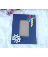 Handcrafted Blue Dragonfly Hanging Picture Frame Paper Quill - $7.95