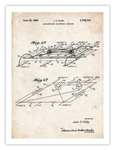First Computer Microchip Invention Poster 1964 Us Patent Print 18 X24 Kilby Mi... - $24.97