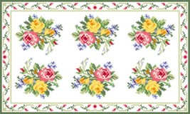 "Latch Hook Pattern Chart: READICUT #603 Summer Blossom 36"" x 60"" - EMAIL2u - $6.95"