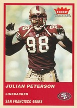 2004 Fleer Tradition #154 Julian Peterson  - $0.50