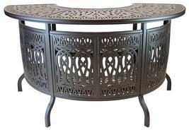 Elizabeth Outdoor Patio Party Bar Table Cast Aluminum Dark Bronze - $1,197.90