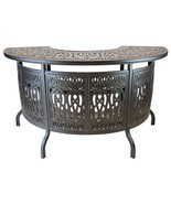 Elizabeth Outdoor Patio Party Bar Table Cast Aluminum Dark Bronze - £939.53 GBP