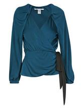 Diane Von Furstenberg Venlo Deep Teal Top Blouse - $104.91