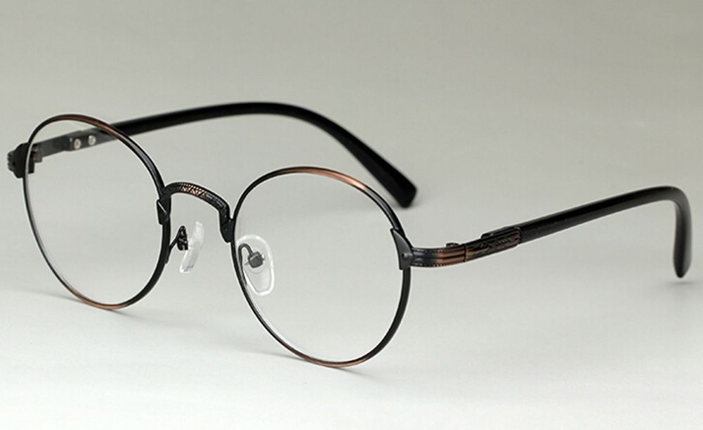 Unique Metal Eyeglass Frames : Vintage Unisex Eyewear Round Metal Unique Eyeglass Frames ...