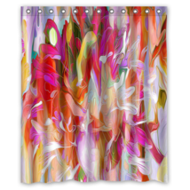 Abstract Flower Painting #14 Shower Curtain Waterproof Made From Polyester - $29.07+