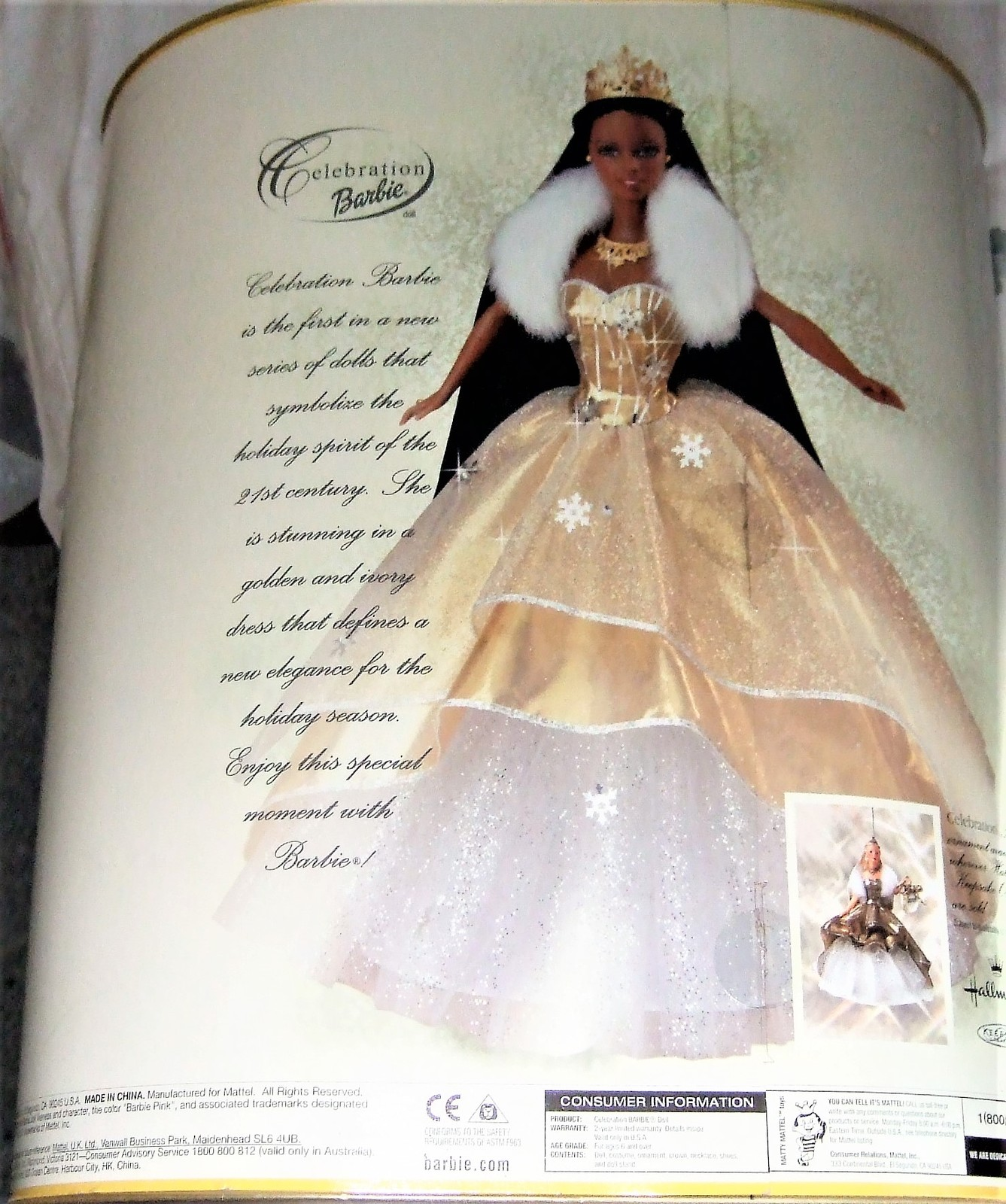 MATTEL BARBIE SPECIAL EDITION 2000 CELEBRATION BARBIE DOLL AFRICAN AMERICAN AA