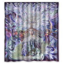 Abstract Girl Painting #18 Shower Curtain Waterproof Made From Polyester - $29.07+