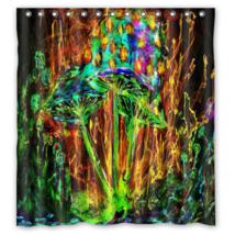 Abstract Mushroom #25 Shower Curtain Waterproof Made From Polyester - $29.07+