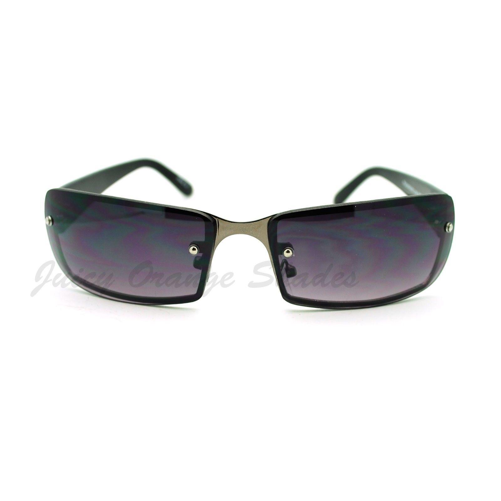 Small Narrow Rectangular Rimless Fashion Unisex Sunglasses