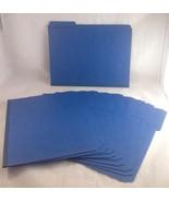 Smead 21541 Dark Blue Colored Pressboard File Folders (10 Folders) - $15.00
