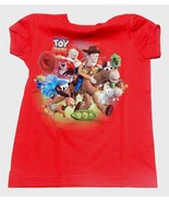 NWT Disney Store Toy Story 3 Characters Shirt  Girls  XXSmall 2/3 Red - $14.99