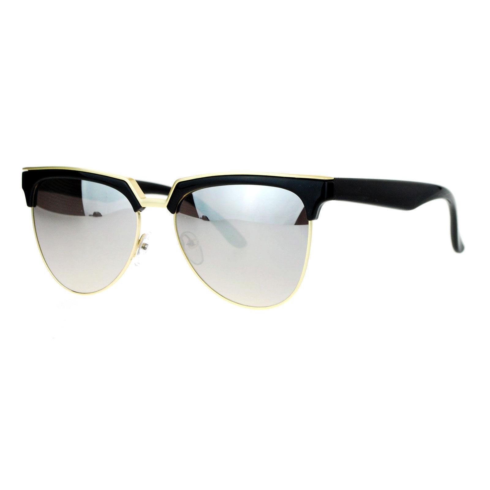 Womens Trendy Top Fashion Sunglasses Stylish Frame Mirror Lens UV 400