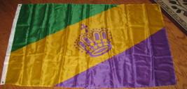 Flag 3X5 Mardi Gras Crown King Queen Flag 3'x5'  Banner - $9.98