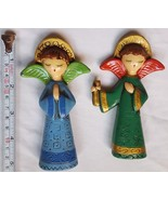 2 Rare Vintage Nativity  Angels fr Japan, pre-owned decorations:  can ha... - $26.29