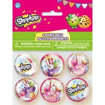 Shopkins 6 Bounce Balls Birthday Party Supplies - $4.74