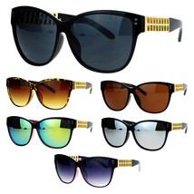 SA106 Womens Unique Metal Chain Arm Rectangular Butterfly Sunglasses - $10.95