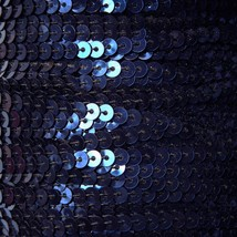 Sequin Stitched Trim 4mm ~ Navy Midnight Blue Shiny Metallic ~ Made in USA - $10.97