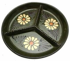 Studio Pottery 3 Section 8.25 Inch Hors Doeuvres Dish - $48.41