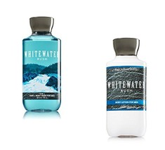 Bath Body Works Men Lotion and Hair Body Wash Set, Whitewater Rush - $18.72