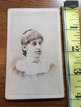 CDV Carte De Viste Young Lady Lace Collar Dress New York 1880's! - $6.00
