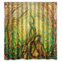 Abstract Painting #54 Shower Curtain Waterproof Made From Polyester - $29.07+