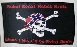 Rebel Pirate Theme Flag 3' X 5' Deluxe Banner  - $9.95