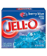 Jello Berry Blue Gelatin Dessert 2-3 oz Boxes - $3.59