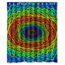 Abstract Psychedelic #03 Shower Curtain Waterproof Made From Polyester - $29.07+