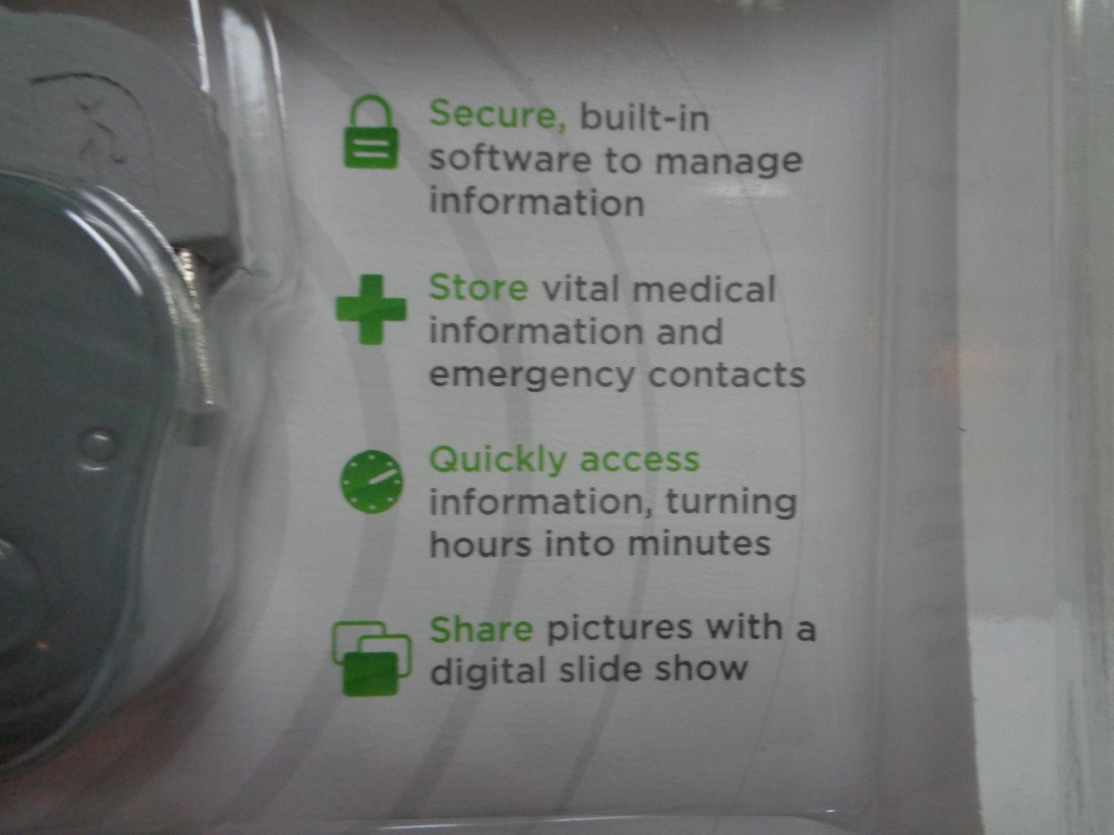 New Amber Alert My Child ID Safeguard Child Vital Information Blue Elephant USB