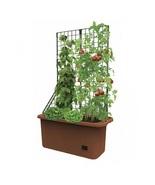 Space Saving Mobile Garden Planter W/ Trellis Self Watering Well Vegetab... - $64.98
