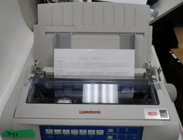 OKI Microline 420 9 Pin Fast Dot Matrix Printer Okidata D22900A #7071 white - $186.38