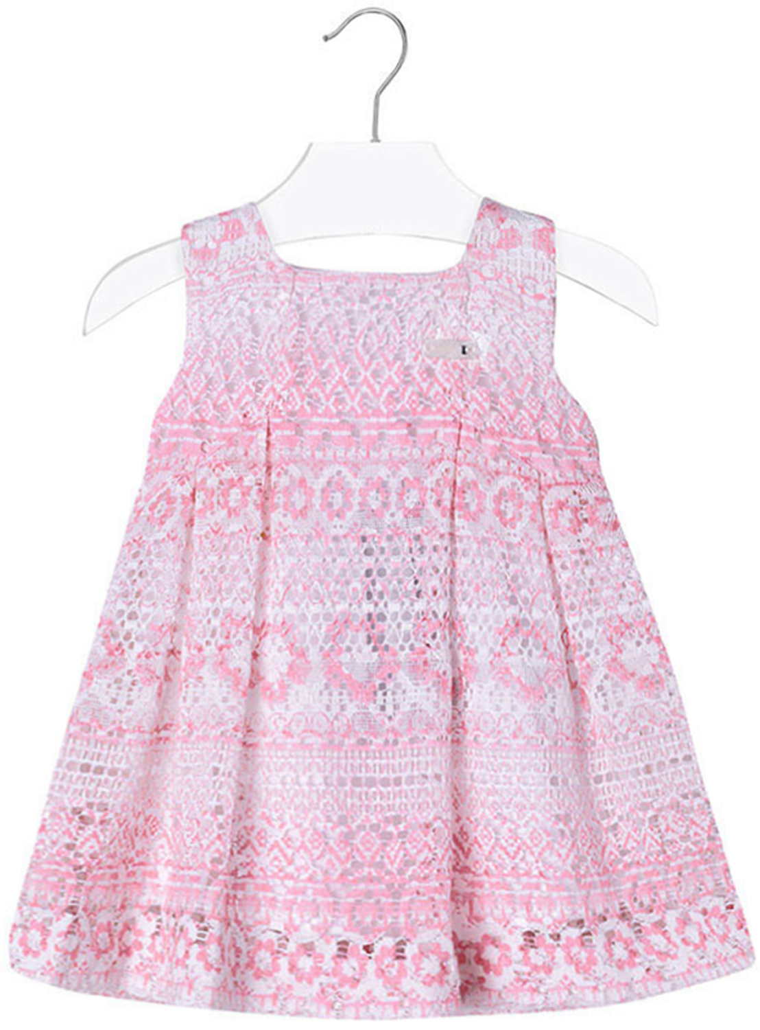 Mayoral Baby Girls 3M-24M Orchid Pink Colorblock Tiers Social Dress