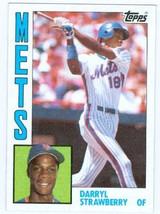 1984 Topps #182 Darryl Strawberry Rookie Card 1986 New York Mets! - $19.99