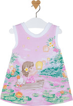 Mayoral Baby Girls 0M-12M Petal Pink Bunny-Girl-Boat Novelty Print Knit Dress