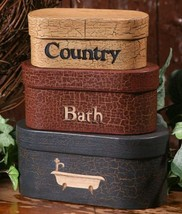 3B1181-Country Bath Nesting Boxes Set of 3 Paper Mache' - $14.95