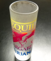 Tijuana Tequila Margarita Shot Glass Tall Size Frosted Glass Yellow Red ... - €6,00 EUR