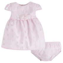 Mayoral Baby Girls 0M-12M Rose Pink White Gingham Organza Social Dress
