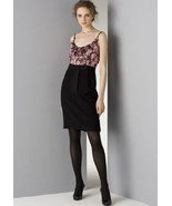 MILLY  ROSE/BLACK ROSETTE COMBO DRESS - US 6 - UK 10 - $110.52