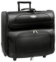 "Travel Select Amsterdam 23"" Black Wheeled Rolling Upright Garment Travel... - $59.99"