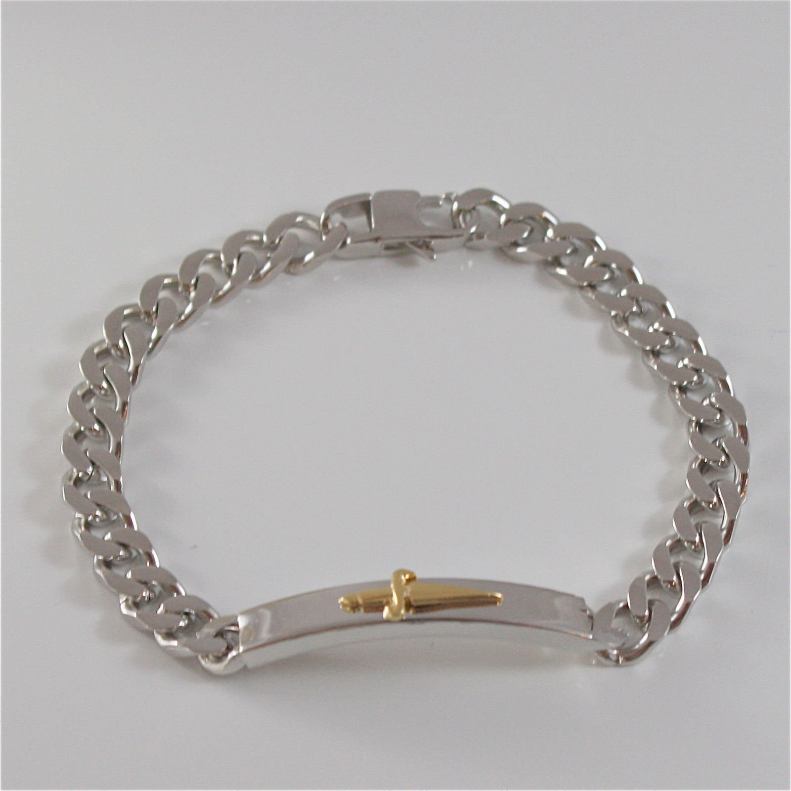 925 SILVER AND STAINLESS STEEL BRACELET BY CESARE PACIOTTI 20 CM JPBR1261B