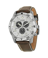Citizen Perpetual Calendar Eco-Drive Chronograph Silver Mens Watch BL547... - £162.82 GBP