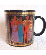 Laurel Burch Coffee Mug Cup Tribal Spirit 1988  - $14.95