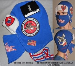 Ed Hardy by Christian Audigier SE Convertible Cuff Cap Unisex Beanie blu... - $11.01 CAD
