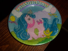 My Little Pony G1 merchandise party plates with pink princess MIP - $30.00