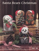 Santa Bears Christmas, Douglas Designs Cross Stitch Decor Pattern Bookle... - $5.95