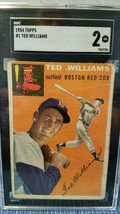 1954 Topps Graded Ted Williams Boston Red Sox #1 Baseball Card - $123.75