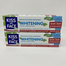 2 Pack - Kiss My Face Whitening Toothpaste Cool Mint Flouride Gel 4.5 oz ea - $13.42