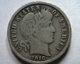 1910 BARBER DIME VERY FINE VF NICE ORIGINAL COIN FROM BOBS COINS FAST SH... - $9.00
