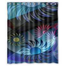 Abstract Sunflower Psychedelic #07 Shower Curtain Waterproof Made From Polyester - $29.07+